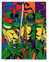 Ninja Turtles Color by straydiver
