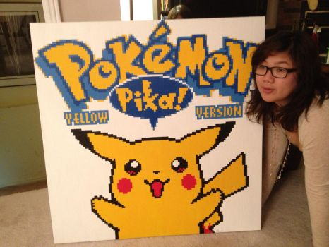 Pokemon Yellow Pikachu Painting by RubiksPhoenix