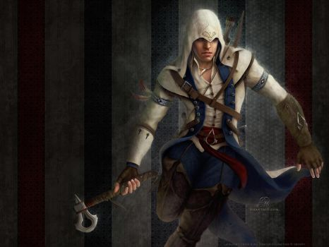 Connor Kenway - Assassin's Creed 3 Wallpaper by Celtran
