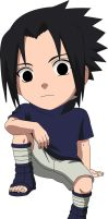 Chibi But Big Headed Sasuke by EvoIIICE9A