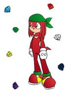 knuckles the echidna by redechidna