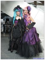Miku and Luka cosplay from Voc by Cosplayfu