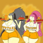 Mawile Sister's Waitresses (colored) by IGPHHangout