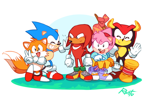Sonic cast by rontufox