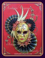 Quilled Venetian Mask by PreetK