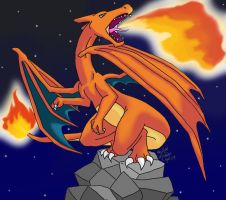 Charizard- Flamethrower by methuselah-alchemist