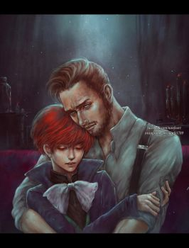 Vile Bodies: Reddux and Ottilie Audley by NanFe