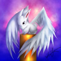 winged bunny by frozenbunny