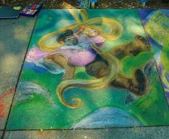 Tangled Chalk Art by Artdude529