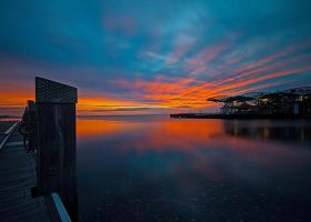 Waterfront Sunrise 2 by DanielleMiner