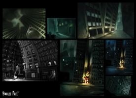 Poulet Free - City sketches by Grimhel