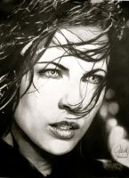 Kate Beckinsale Portrait by ParaguayDraw