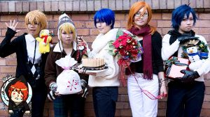 Uta no Prince sama Maji Love 1000 ChristmasCard by popomini
