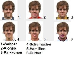 Sebastian Vettel and other drivers by LidiaForza