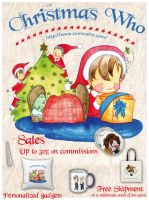 Christmas sales - Comic Who by elisamoriconi