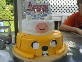 adventure time cake. by slushie2