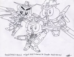 The AGE of Mecha REMAKE-lineart by murumokirby360