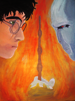 Harry Potter and Voldermort by dhfreak