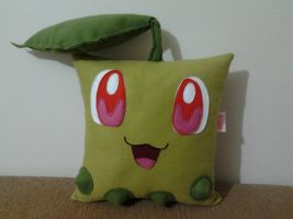 Handmade Anime Pokemon Chikorita Plush Pillow by RbitencourtUSA