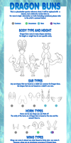 OUTDATED - Dragon Bun Species Sheet by Plenii