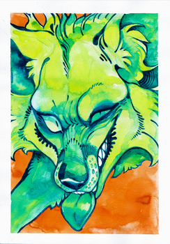 Green Fox by LiLaiRa