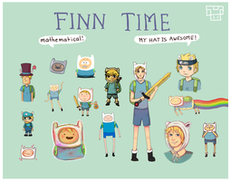 Adventure time: Finn different styles by Dorinootje