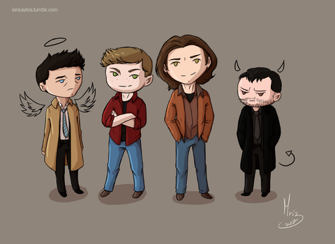 Team Free Will... and Crowley by LaniusRios
