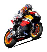 Dani Pedrosa Repsol Honda by RacerTees