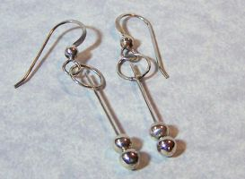 Silver Bead Drop Earrings by SoundwarpSG-1