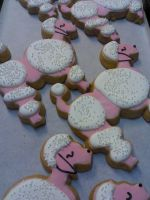French Poodle Cookies by eckabeck