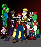 Super Mario and friends by JoffOliver