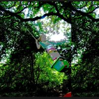 swing green childhood by girlwithstripes