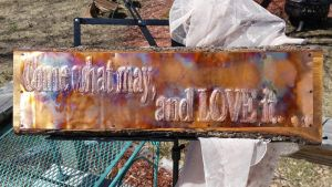 Large Copper Sign Custom Gift Idea by artistiquejewelry