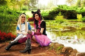 Cosplay - Alice and the cat by Didi-hime