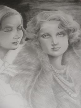 Dietrich and Garbo WIP 4 by LadyPakter4life