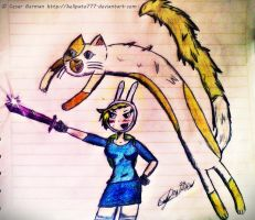 Fionna Time with Cake by HELLPATO777