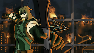 Green Arrow Apocalypse by PedDavid