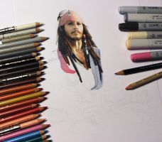 Jack Sparrow WIP by Quelchii