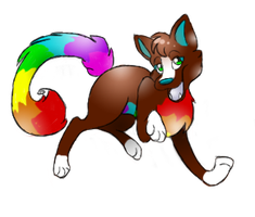 Request: Rainbow dog by Para-song