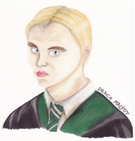 Draco Malfoy Portrait by EmailinasBrother