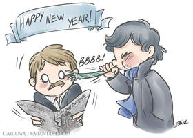 Sherlock - Happy New Year! by caycowa
