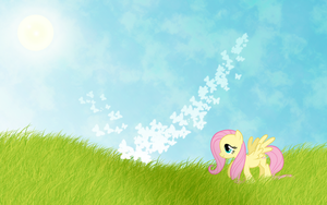 Wallpaper Fluttershy by Mihaaaa
