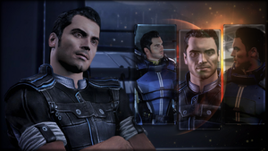 Mass Effect Wallpaper - Kaidan Alenko (Triptych) by Ainyan42