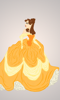 Belle Sketch  by Kitty-Olenic