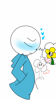 Sans thinking Of Flowey by DesolationCries