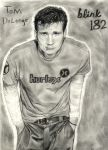 Tom Delonge from Blink 182 by ThunderhillPaints