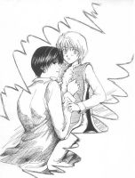 Kurapika and kuroro...again by Blacksspirit