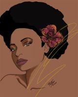 Afro flower by FeOzzyBlack