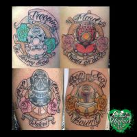 Nautical Star wars diving helmet tattoo set by yayzus
