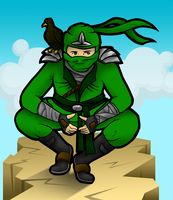 Green Ninja: Ninjago by skcolb